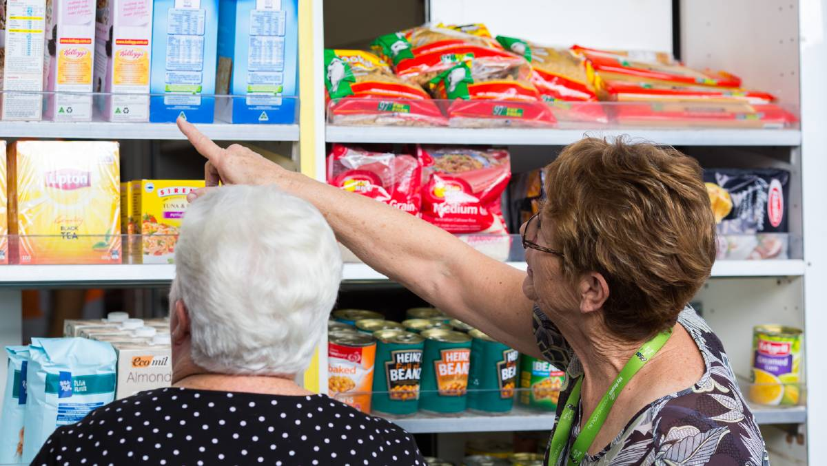 Plentiful pantries: For a $10 contribution, eligible people on low-income will be able to take home a shopping bag full of food worth close to $60.