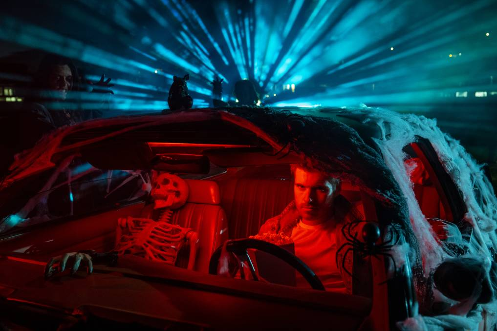 Attendees at the Frightful Eighties Drive-in Cinema can dress their car in an 80s Halloween-theme for the chance to win a $500 voucher for Best Dressed Vehicle. Credit: Elder from HAUS PARTY