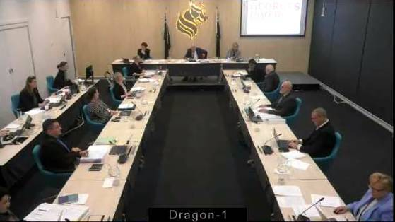 Footage from Georges River Council's virtual meeting last month.
