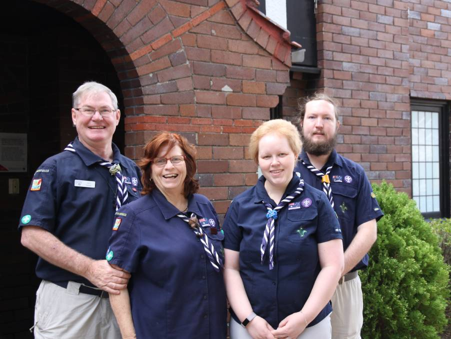 John, Helen, Liz and James Dwyer have been members of the 1st Hurstville Scout Group for more than 20 years. Picture: Supplied.