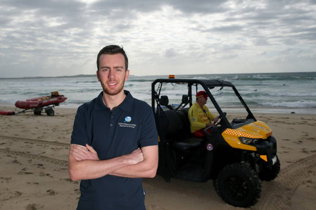 Safety message: Mark Woods at North Cronulla Beach is now doing research to help prevent beach drownings in multicultural communities. Picture: Geoff Jones