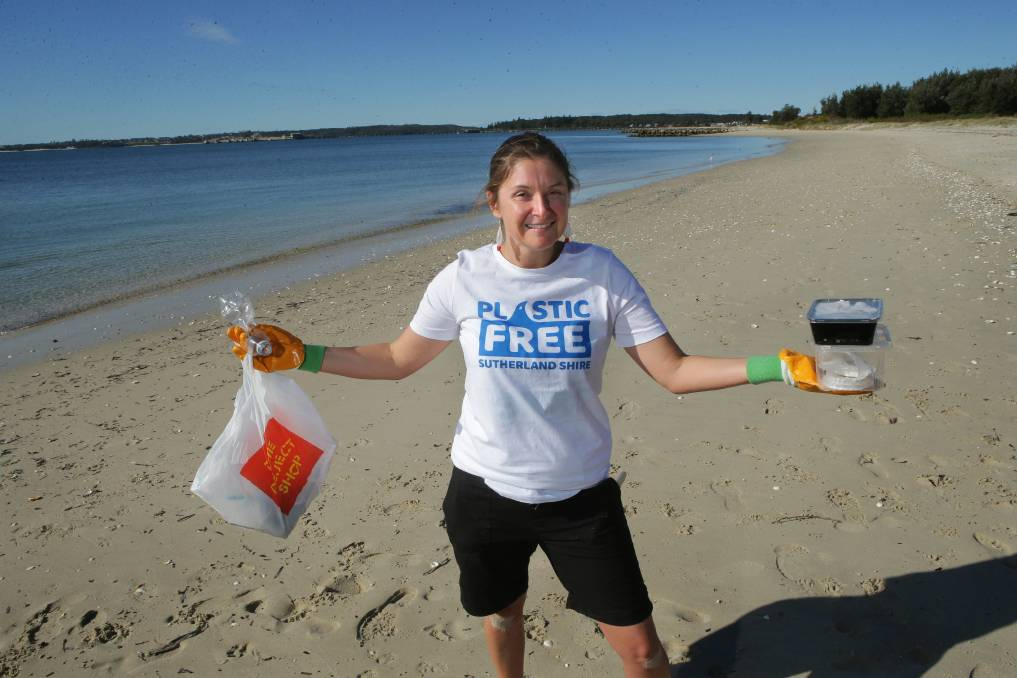 Enviro-mission: Sarah-Jo Lobwein is leading a beach clean-up to rid the coastal areas of plastics. Picture: John Veage