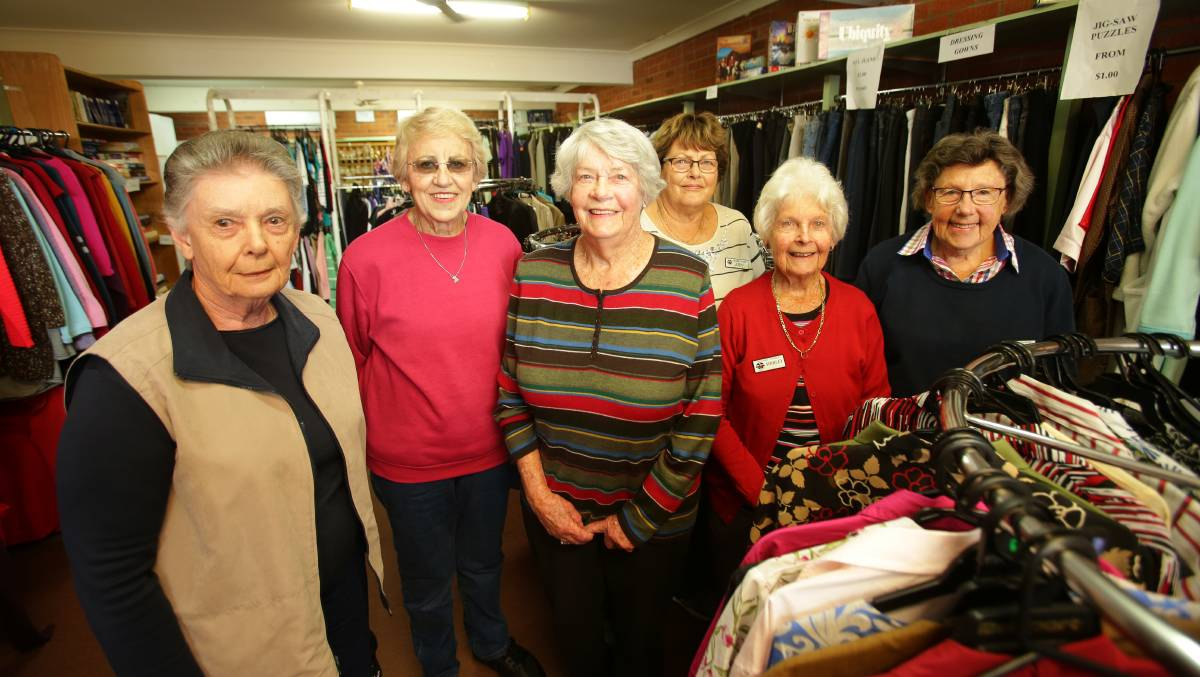 Saying goodbye: Volunteers at Second Chance op-shop: Judy Street (left), Robyn Stanton, Patsy Smallwood, Jan Fisher, Shirley Basterfield and Toni Stevens. Picture: Chris Lane