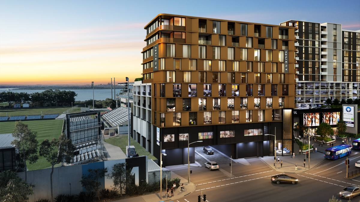 Artist's impression of the 71-room serviced apartments hotel in the Woolooware Bay Town Centre development. Picture: supplied