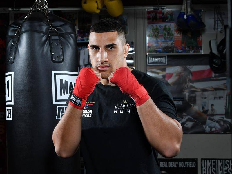 Justis Huni's professional boxing debut will be for an Australian heavyweight title.