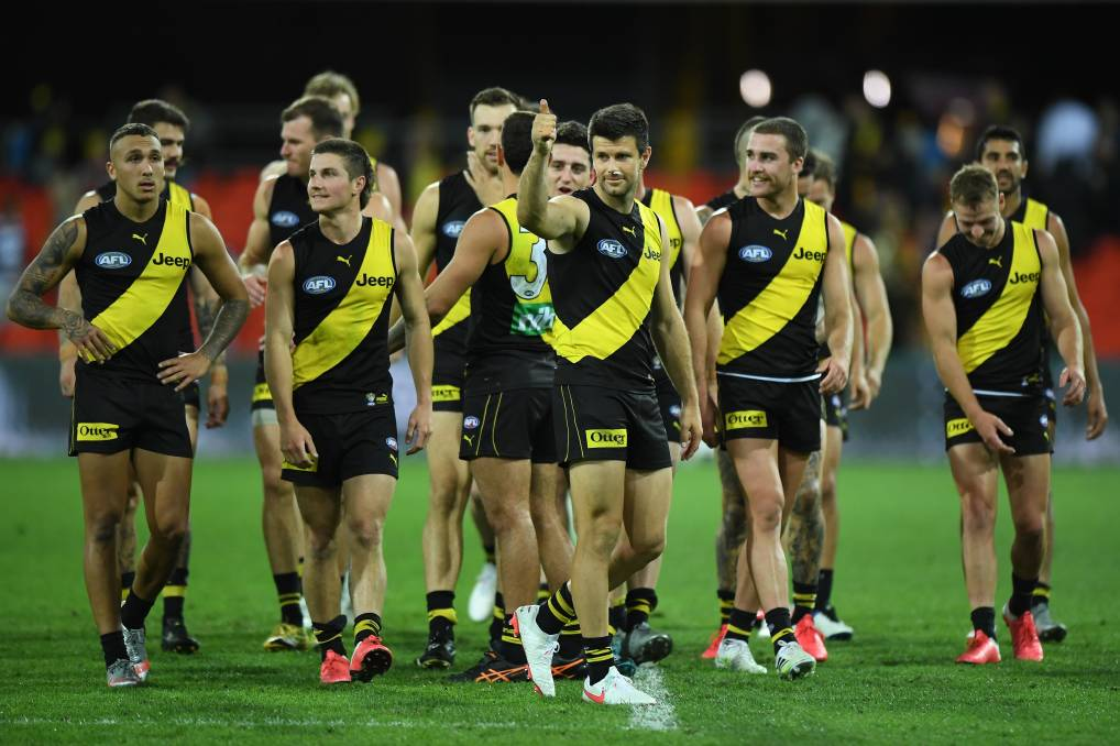 Another Richmond premiership on Saturday would see the Tigers claim three premierships in four years. Photo: Matt Roberts/AFL Photos/via Getty Images