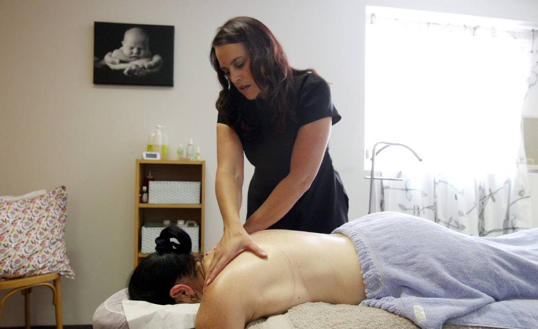 Relaxation is the key: Belinda Kelly helps women with their spinal and shoulder problems.
